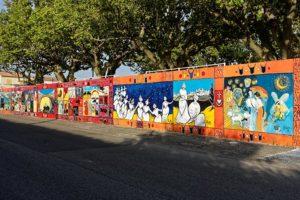 Fresque murale aux arènes de Graveson