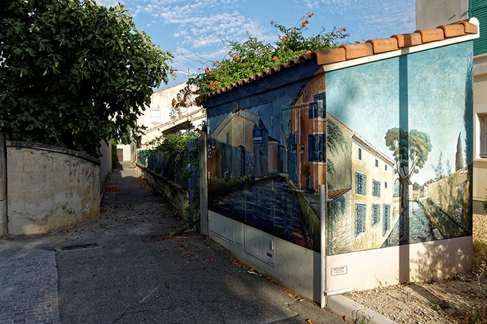 Fresque murale transformateur à Graveson