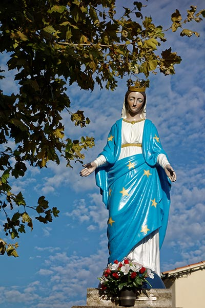 Statue Vierge Graveson